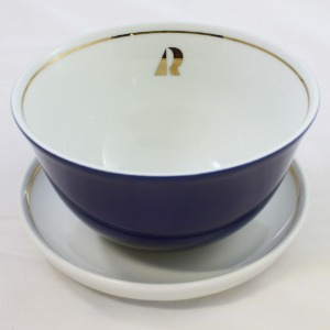 Kahla Musli Bowl with Plate 14cm - Navy